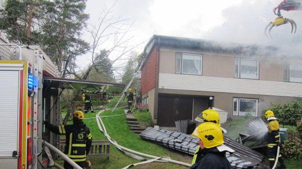 Palo syttyi torstaina iltapäivällä.