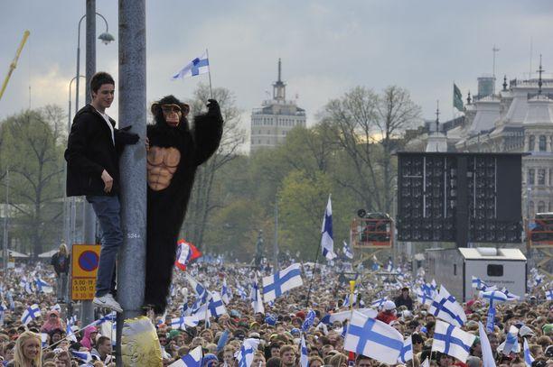 Vuonna 2011 Helsingin Kauppatorilla vietettiin todellista kansanjuhlaa.