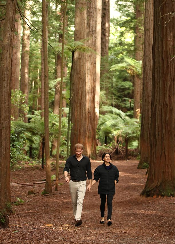 Rennosti käsi taskussa metsässä.