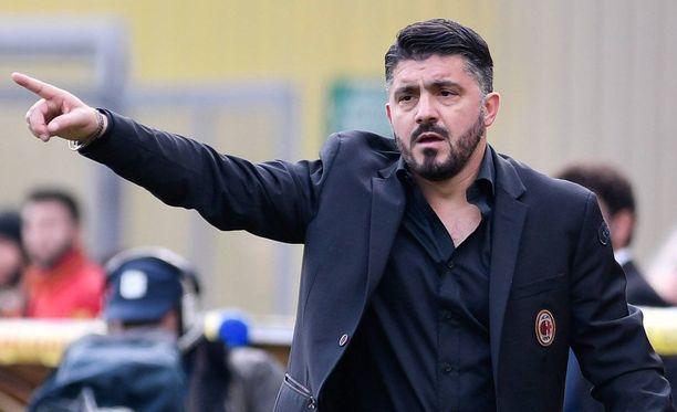Gennaro Gattuso nähtiin tänään ensimmäistä kertaa AC Milanin päävalmentajana.