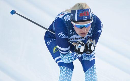 Anne Kyllönen jäi todella niukasti ulos sprinttifinaalista – Johannes Kläbo nousi rajulla loppukirillään Tour de Skin kärkeen