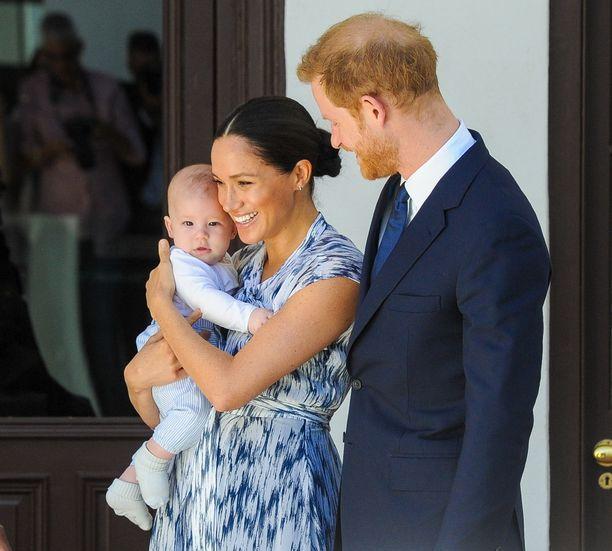Meghan, Harry ja Archie-poika viettivät ensimmäistä yhteistä kiitospäivää Yhdysvalloissa. Kuva syksyltä 2019.
