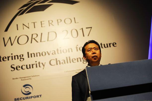 Meng Hongwei matkusti Kiinaan syyskuun lopulla.