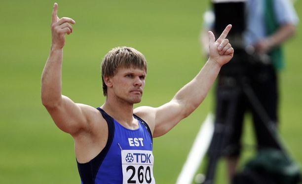 Andrus Värnik voitti vuonna 2005 Helsingissä keihään MM-kultaa.
