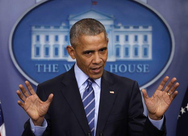 Barack Obama ottaa loppukiriä. Hänen presidenttikautensa päättyy ensi kuussa.