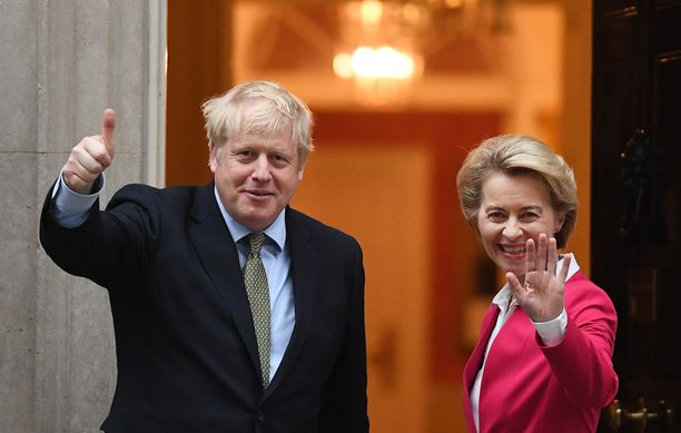 Euroopan komission puheenjohtaja Ursula von der Leyen tapasi pääministeri Boris Johnsonin torstaina. Kohteliaisuuksia vaihdettiin, mutta von der Leyen varoitti tulevista vaikeuksista.