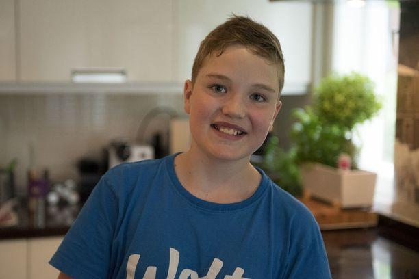 11-vuotias Mico Vanhanen aloitti pizzatehtailun jo 6-vuotiaana.