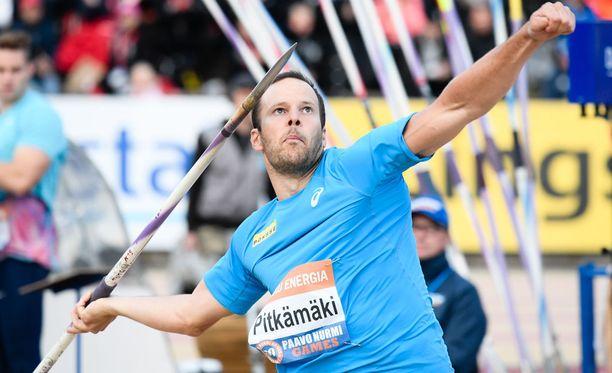 Tero Pitkämäki jätettiin viidenneksi Paavo Nurmi Gamesissa.