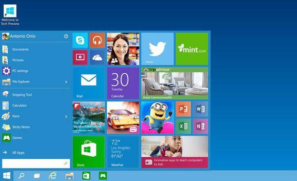Käynnistysnappula tekee paluun uudessa Windowsissa.