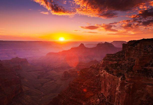 Grand Canyon on vain yksi Yhdysvaltojen huikaisevista luontokohteista.