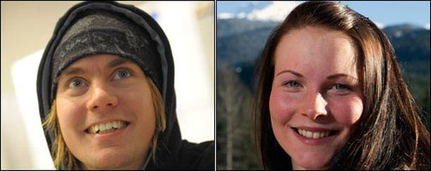 Anssi Koivuranta ja Sanni Leinonen seurustelevat.