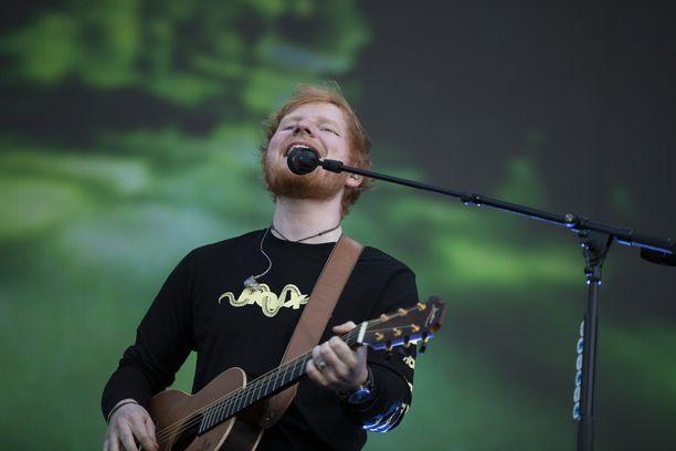 Ed Sheeran esiintyi kesällä 2019 Helsingissä.