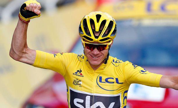 Christopher Froome sai nousi Ranskan ympäriajon johtoon jo kahdeksannella etapilla rohkean alamäkiajon jälkeen.