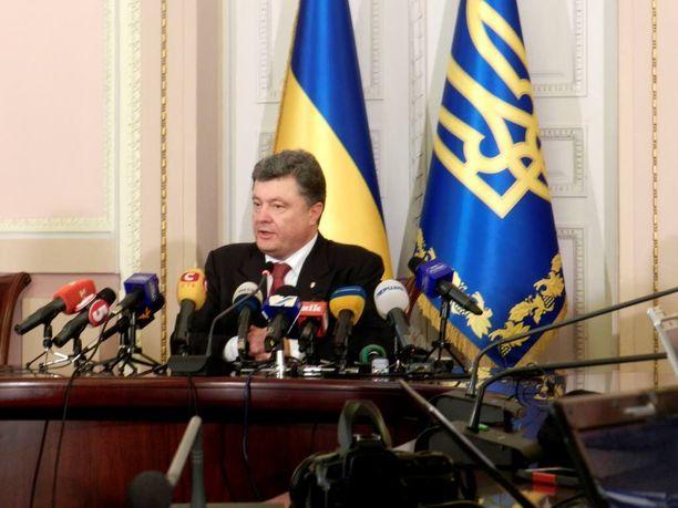 Ukrainan presidentti Petro Poroshenko toivoo Itä-Ukrainan ja Krimin palautusta.