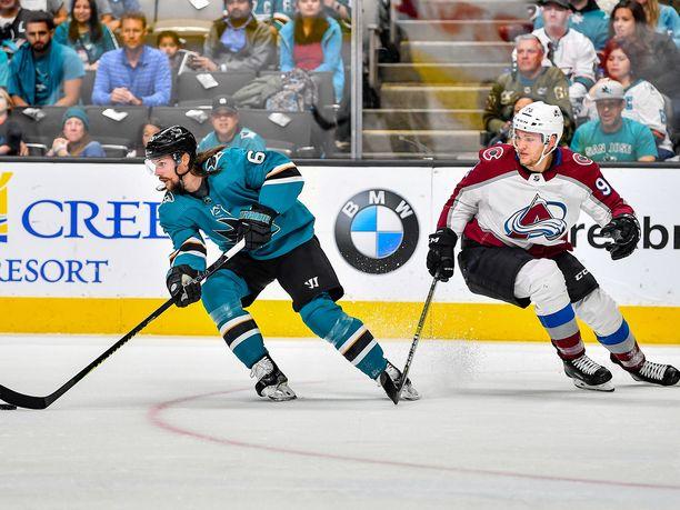 Colorado Avalanchen suomalaishyökkääjä Mikko Rantanen saalisti yhden syöttöpisteen San Jose Sharksia vastaan joukkueiden toisessa kohtaamisessa.