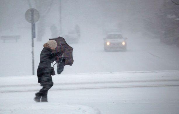 Budapestissä Unkarissa talvinen viima on näyttänyt tältä.