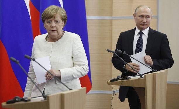 Angela Merkel ja Vladimir Putin ovat olleet viime vuosina useita kertoja napit vastakkain.