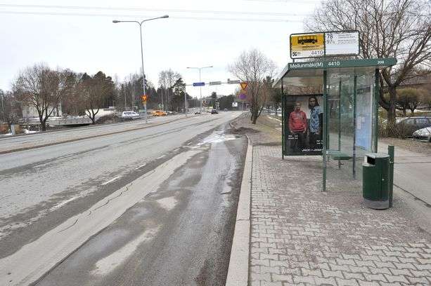 Arkistokuva Mellunmäestä.