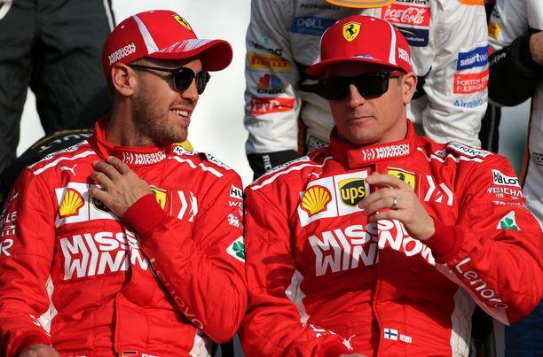 Sebastian Vettelin ja Kimi Räikkösen yhteispeli Ferrarilla toimi. Dynamiikka on muuttunut, kun Charles Leclerc hyppäsi punaiseen autoon.