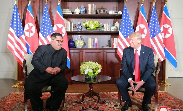 Trump tapasi Pohjois-Korean johtajan Kim Jong-unin Singaporessa 12. kesäkuuta.