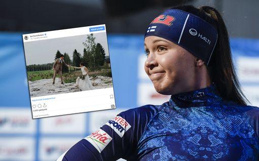 Kerttu Niskanen meni naimisiin – julkaisi upean kuvan hiihtäjämiehensä kanssa