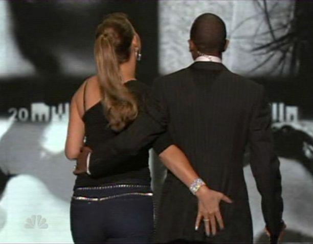 Lavalta lähtiessä Mariahin käsi hamuili sopivan pehmeää paikkaa...