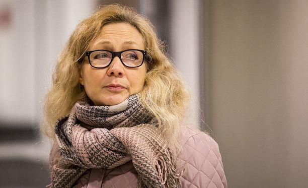 Anneli Auer Turun käräjäoikeudessa joulukuussa 2017.