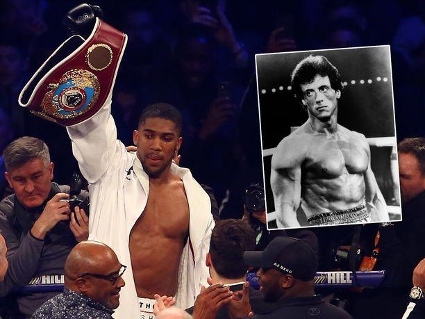 Anthony Joshua lienee suuri Rocky Balboa-fani.