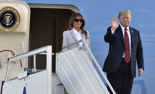 Melania ja Donald Trump saapuivat Suomeen sunnuntai-iltana.