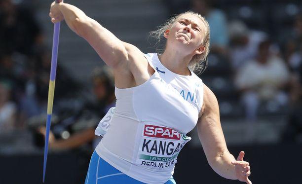 Jenni Kangas jäi Berliinin EM-finaalissa hännille 12:nneksi.