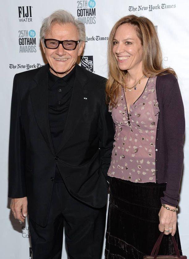 Harvey Keitel yhdessä vaimonsa Daphna Kastnerin kanssa New Yorkissa marraskuussa.