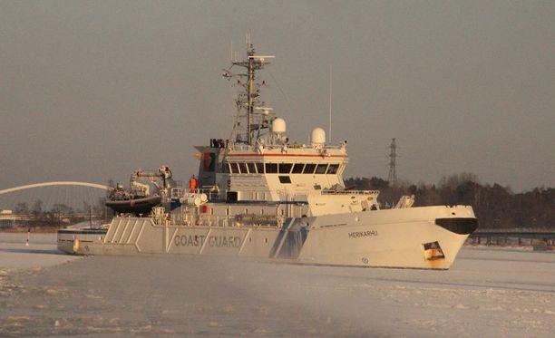 Merikarhun tehtävänä on valvoa EU:n ulkorajaa Egeanmerellä.