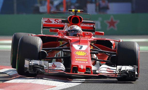 Kimi Räikkönen pettyi pahasti Meksikon GP:n aika-ajossa.