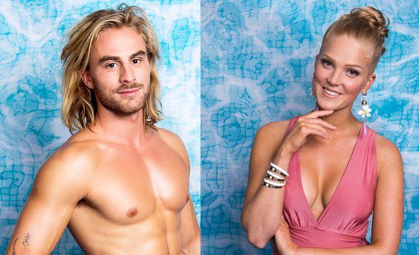 Tältä Patrick ja Anku näyttivät Love Island Suomen uima-allastunnelmissa.