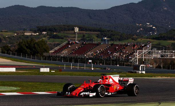 Ferrari SF70-H on ollut vakuuttavassa vauhdissa F1-testeissä.