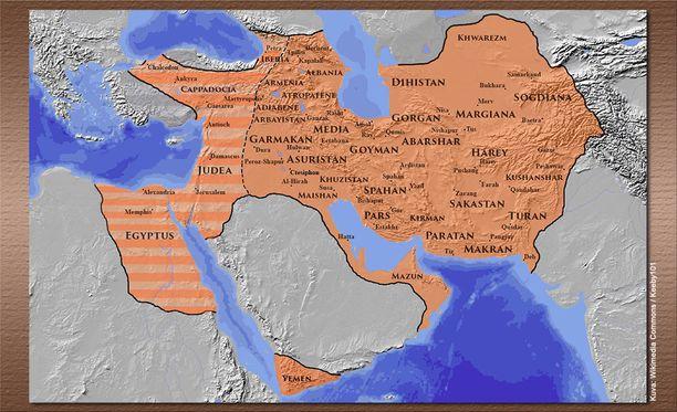 Sassanidien valtakunta oli tiettävästi laajimmillaan kuningas Khosrau II:n aikaan noin vuonna 620.