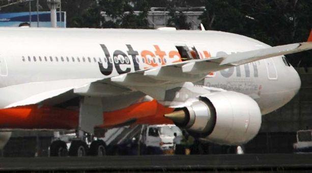 Jetstar-lentoyhtiön Airbus-kone teki hätälaskun Guamin saarelle. Kuvan kone ei liity tapaukseen.