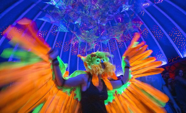 Kolmepäiväiset Mushroom Valley -festivaalit järjestettiin kuudennen kerran. Kuvituskuva.