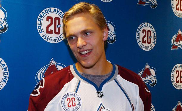 Mikko Rantanen tavoittelee heti paikkaa Coloradon NHL-joukkueesta.