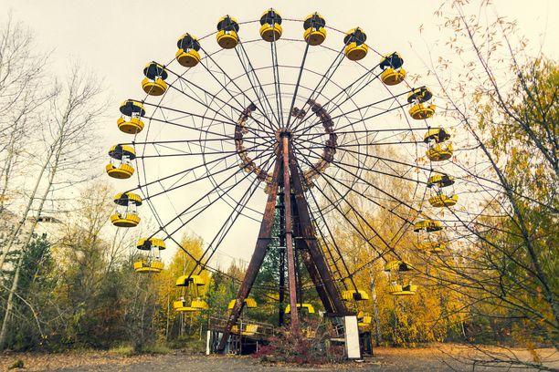 Pripjatin huvipuiston maailmanpyörää ei ehditty koskaan ottaa käyttöön.