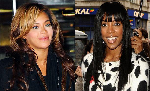 Amme on lahja Beyoncen kanssa Destiny's Childissa laulaneelta Kelly Rowlandilta (oik.).