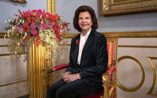 Kuningatar Silvia peitteli murtunutta kättään - vaatetuksesta oiva apu