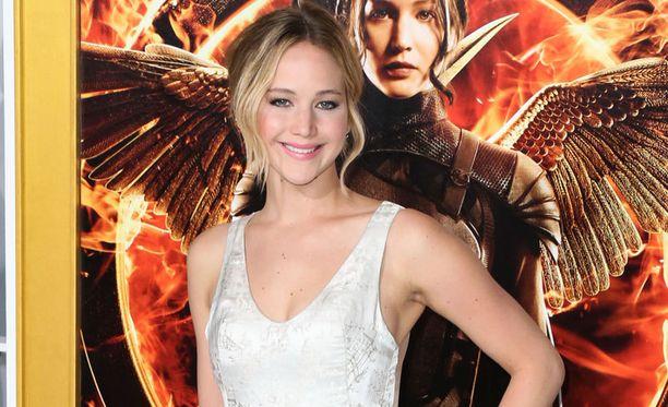 Jennifer Lawrence on pääosassa Nälkäpeli-elokuvissa.
