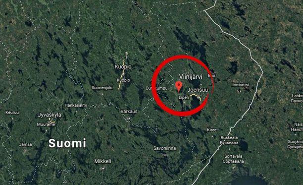 Viinijärvi sijaitsee Itä-Suomessa Joensuun läheisyydessä.