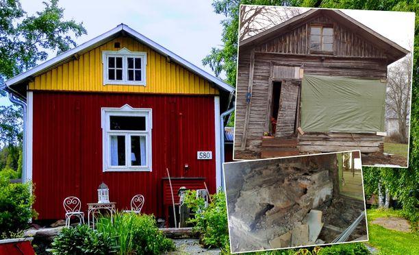 Torppa on remontoitu vanhoja rakennustapoja kunnioittaen.