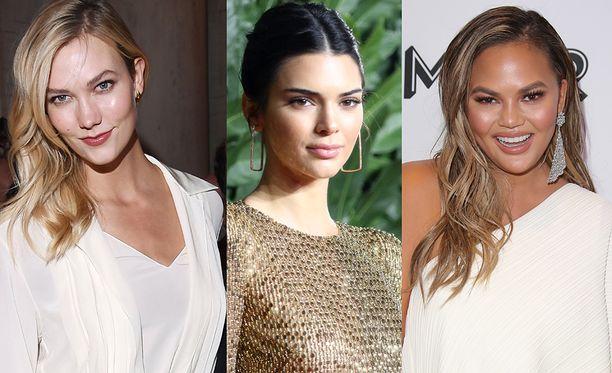 Nämä naiset ovat vuoden 2018 maailman rikkaimmat mallit. Keskellä Kendall Jenner, joka tienasi 20 miljoonaa euroa.