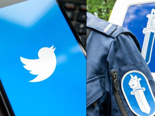 Poliisin mukaan Twitter-jako asettaa ihmiset eriarvoiseen asemaan alkuperän vuoksi. Kuvituskuva.