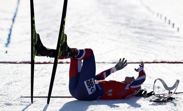 Norjan Johannes Bö romahti hankeen karvaan MM-kultatappion jälkeen.