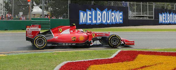 Kimi Räikkönen oli toisen osion viidenneksi nopein kuski.