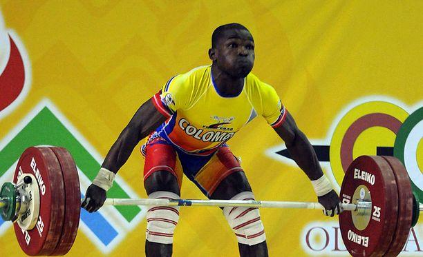 Edwin Mosquera edusti Kolumbiaa Rion olympiakisoissa.